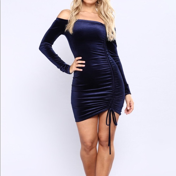 Blue velvet fashion nova dress ad37c56ea